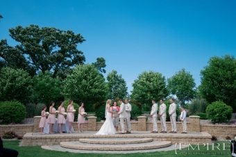 wide angle ceremony at bridges golf course