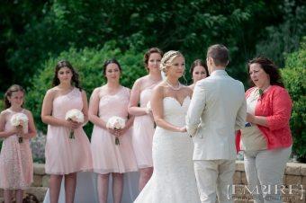 wedding ceremony at bridges golf course