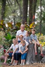 Grandparents and grandchildren family photo