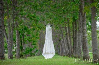 dress hanging outside