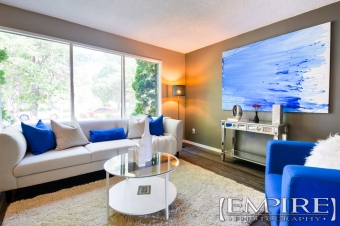 livingroom staging photography