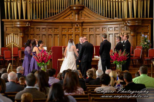 westminister united church wedding ceremony
