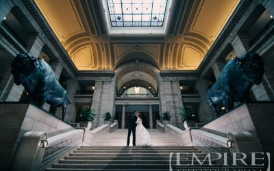 Winnipeg Wedding with Steph & Joel at The Fort Garry Hotel