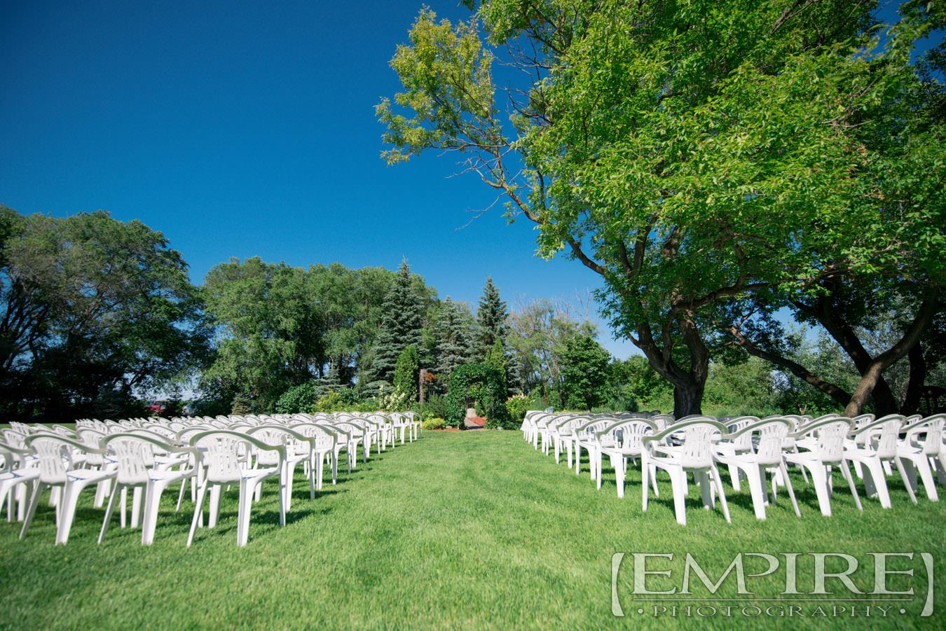 evergreen village wedding ceremony