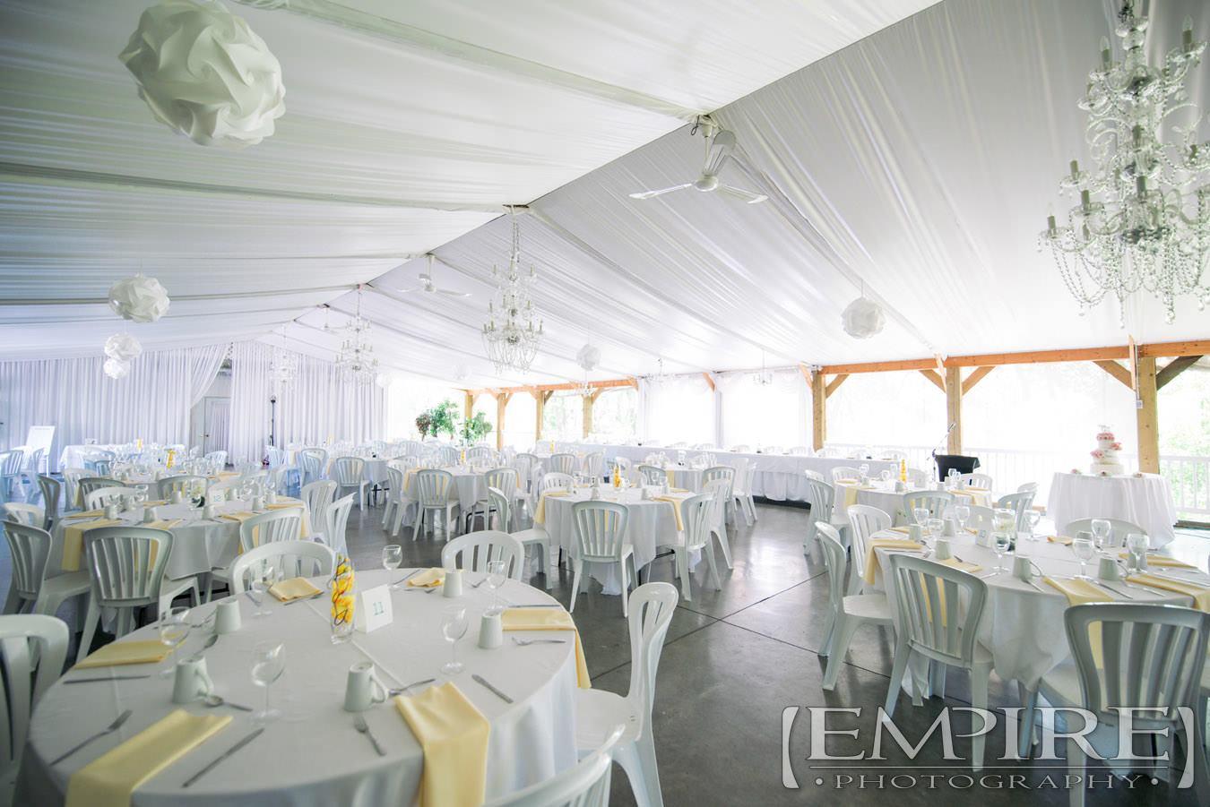 Wedding reception evergreen village