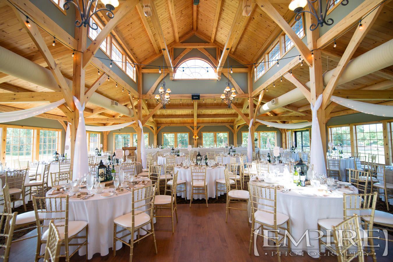 wedding reception bridges golf course