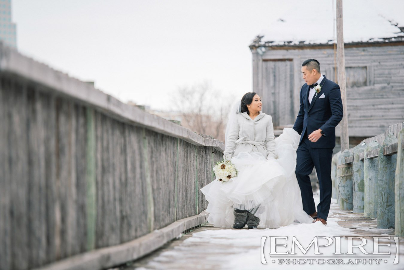 Fort Gibraltar winter wedding